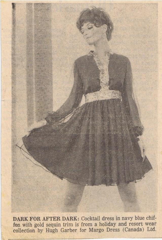 HUGH GARBER MARGO DRESS COMPANY 1968 HGA