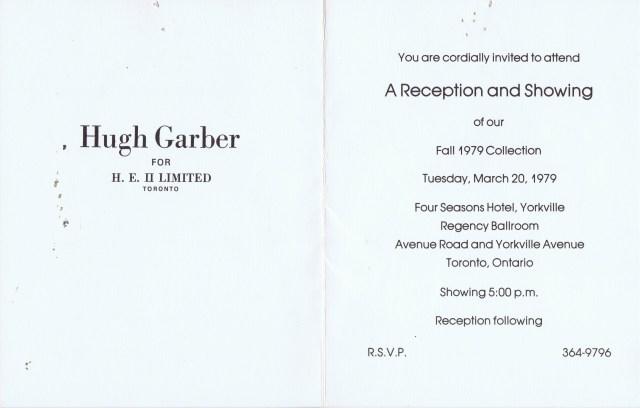 HUGH GARBER HE ll  1979 2/2 HGA