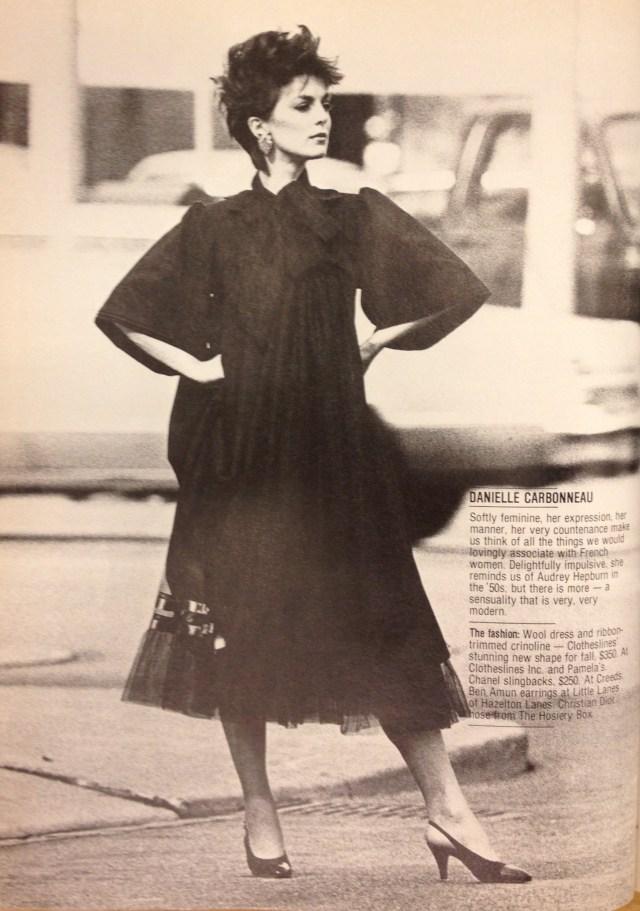 FASHION 1981 FALL MODELS 5 DANIELLE CARBONNEA CLOTHESLINES