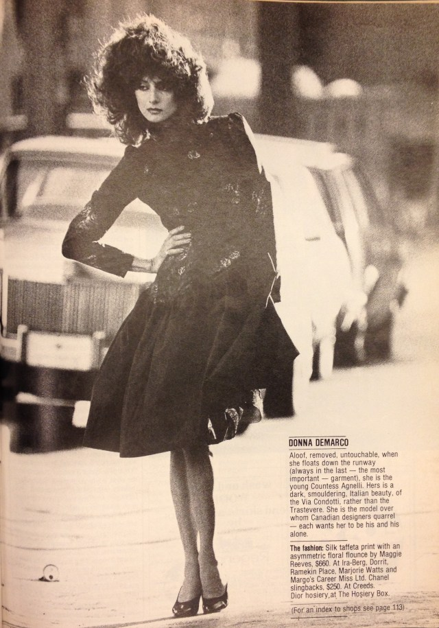 FASHION 1981 FALL MODELS 8 DONNA DEMARCO MAGGIE REEVES