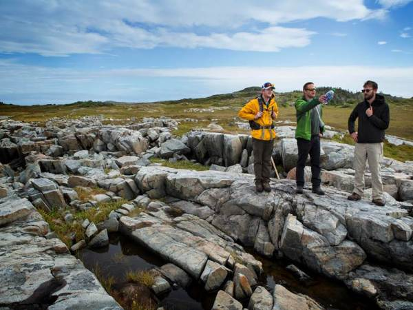 Memorial University Geology Mapping Wild Cove, Fogo Island