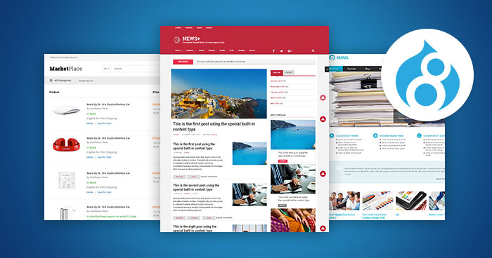 Top 10 Free And Premium Drupal 8 Themes for 2018