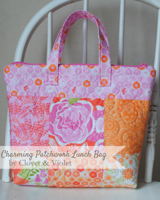 Charming Patchwork Lunch Bag by Clover & Violet