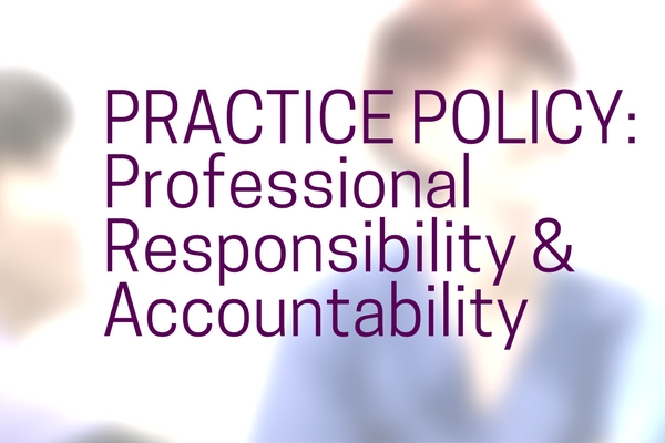 Policy on Professional Responsibility and Accountability defines