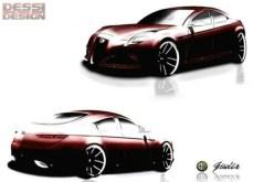 Alfa Romeo Giulia coupé concept car rendering 2
