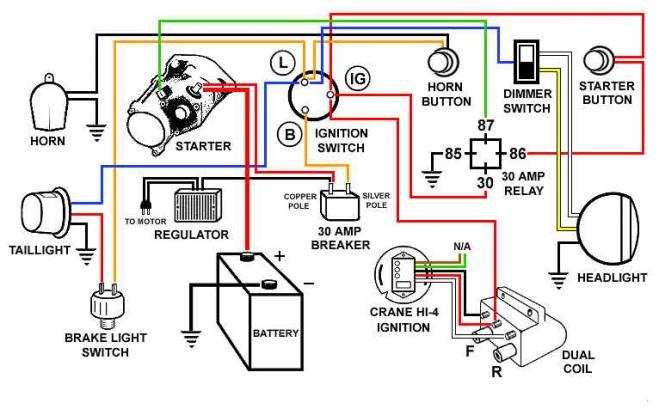 Simple Wiring For Honda Bobber Wiring Diagram