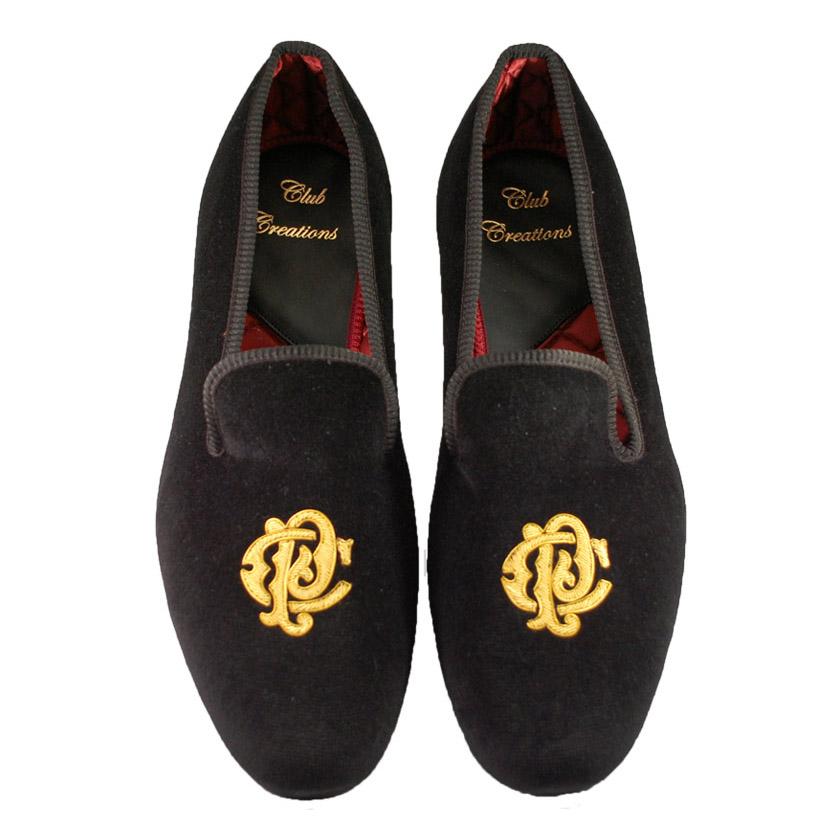 monogrammed slippers for men