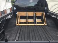 DIY bed mount bike rack