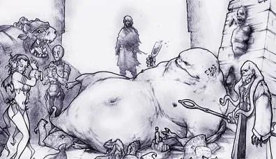 Jabba the Hutt by Richard Whitters