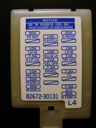 where\u0027s the fuse for Radio/Nav located?? - ClubLexus - Lexus Forum