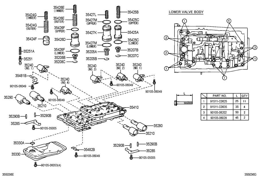 lexus transmission diagram