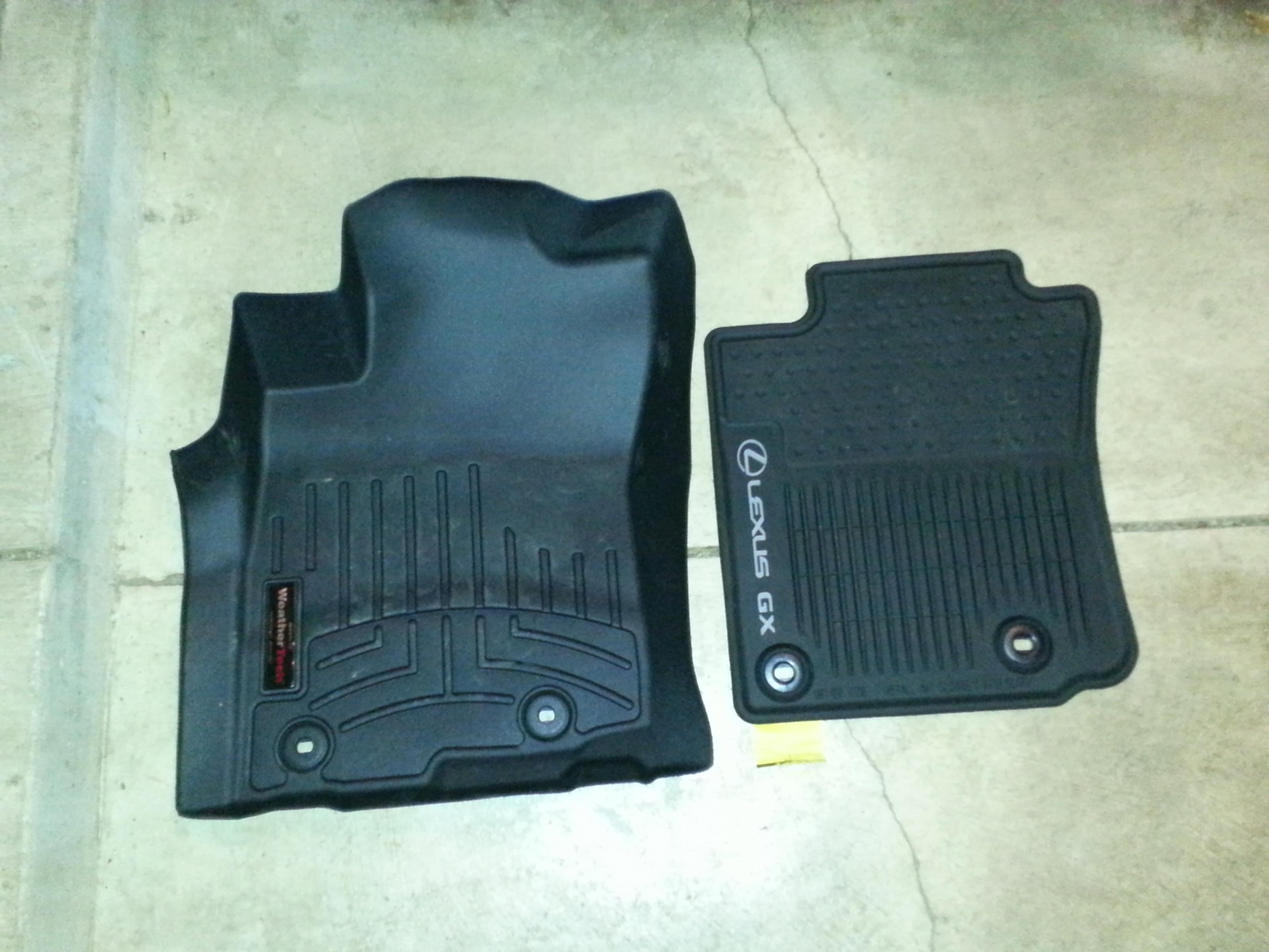 Lexus all weather floor mats vs weathertech 20141218_173642 jpg