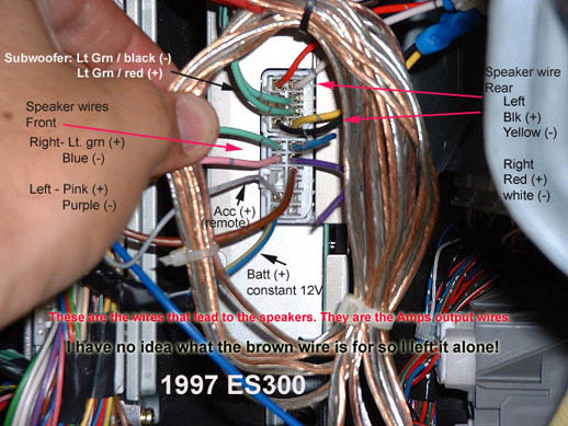 97-99 ES300 wiring for factory Amp - ClubLexus - Lexus Forum Discussion