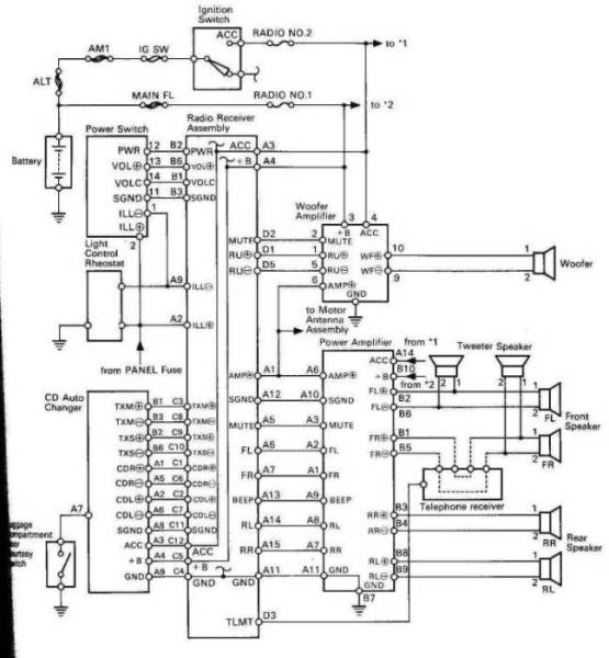 2002 lexus cd player wiring diagram