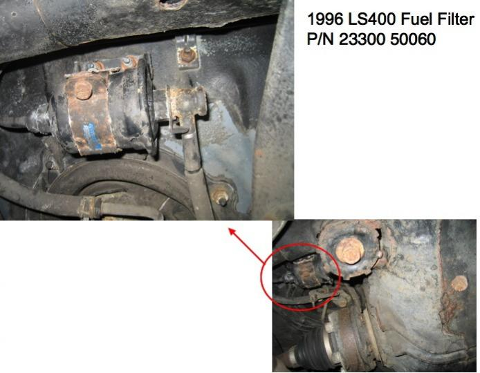 98 LS fuel filter location - ClubLexus - Lexus Forum Discussion