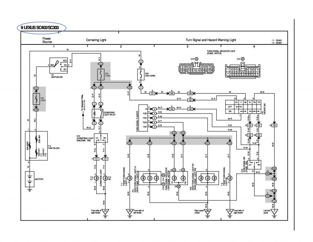 92 lexus wiring harness