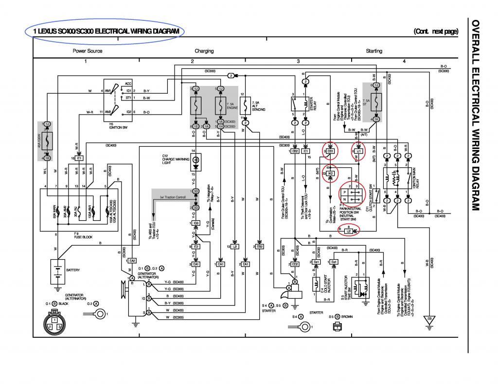 lexus alternator wiring harness