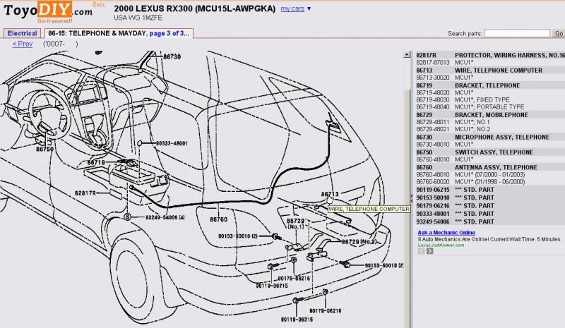 2000 lexus rx300 exhaust diagram