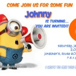 Despicable Me 2 birthday invitations party free