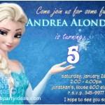 Frozen Disney birthday Invitations Free Printable