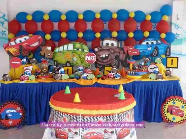 Cars lightning mcqueen decoration ideas for birthday party
