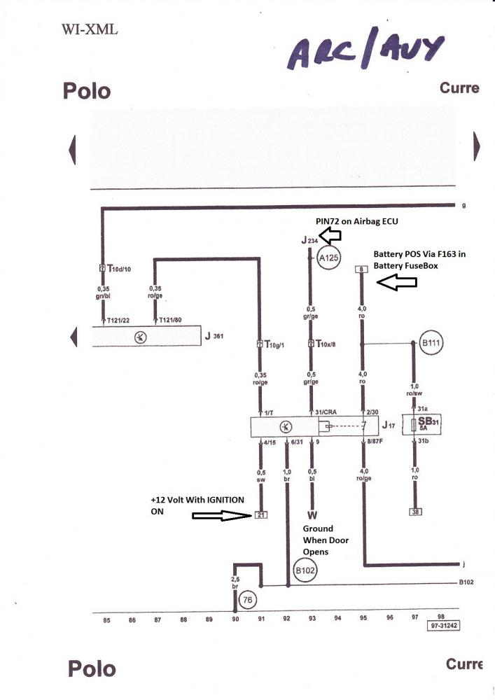 vw polo 6n2 fuse box diagram
