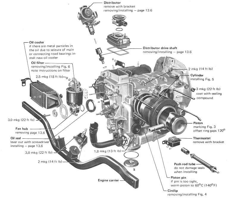 vw beetle 1600cc engine diagram