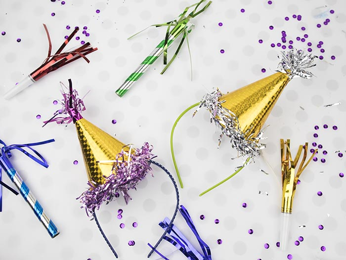 Mini Party Hats - DIY Dollar Store Crafts - Clumsy Crafter