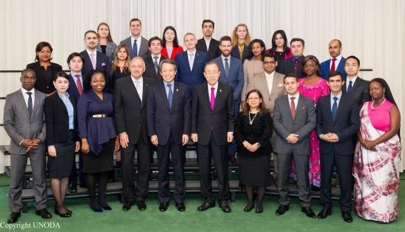 Secretary-General Ban Ki-moon Photo Opportunity with Fellows of the 2016 United Nations Disarmament Programme