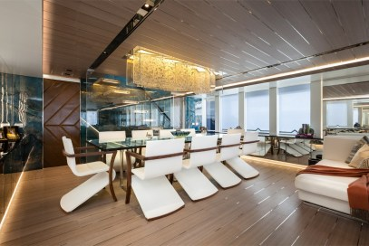 Lighting display on board super yacht MY:Logica