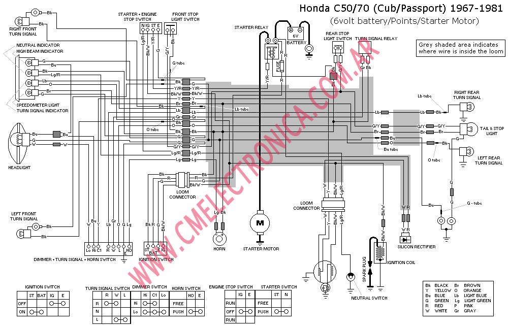ct70 wiring diagram also honda trail 70 wiring diagram wiring