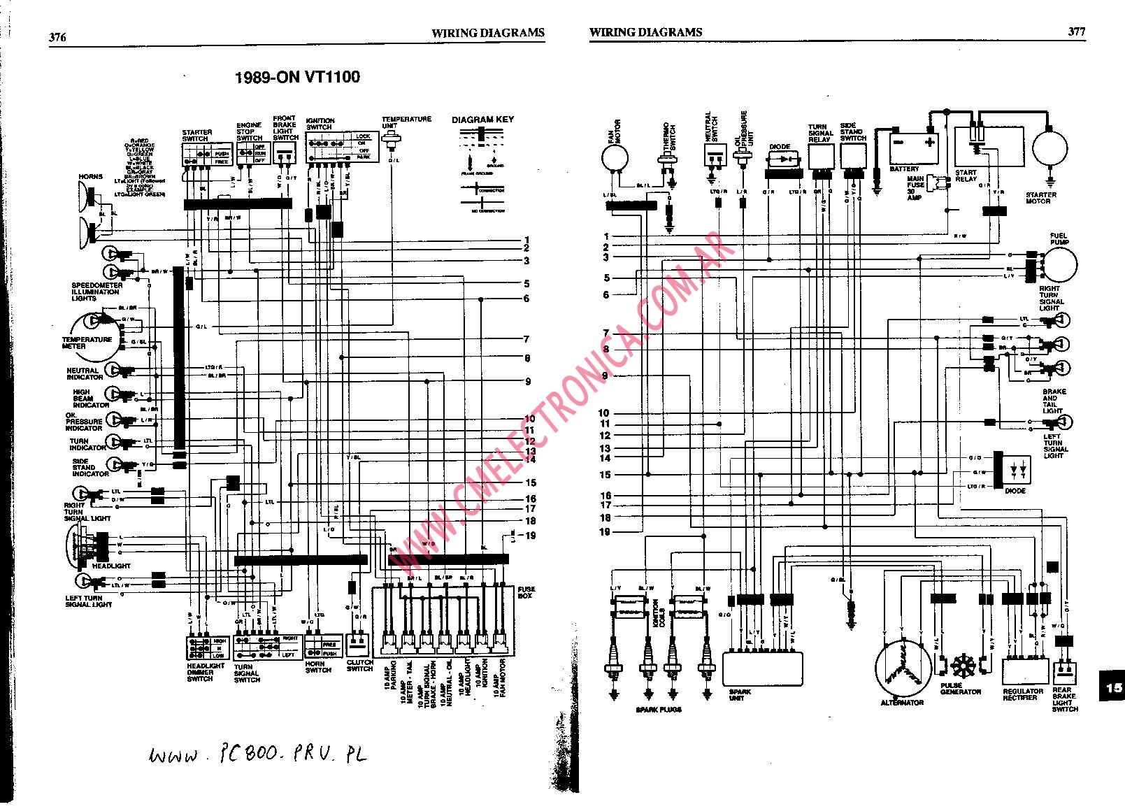 honda vt500 ignition wiring diagram