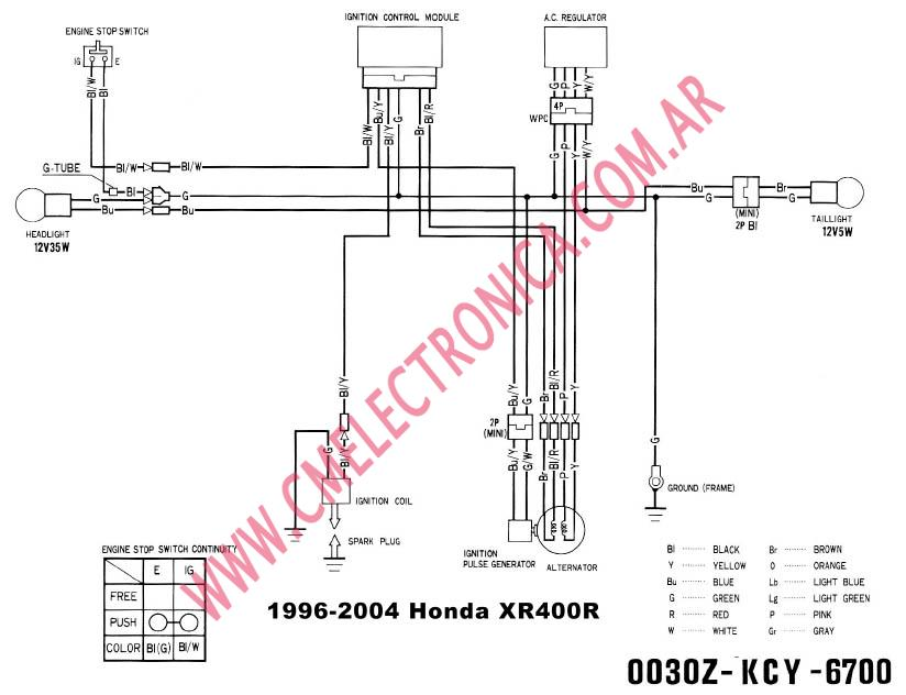 2003 honda xr400 wiring diagram