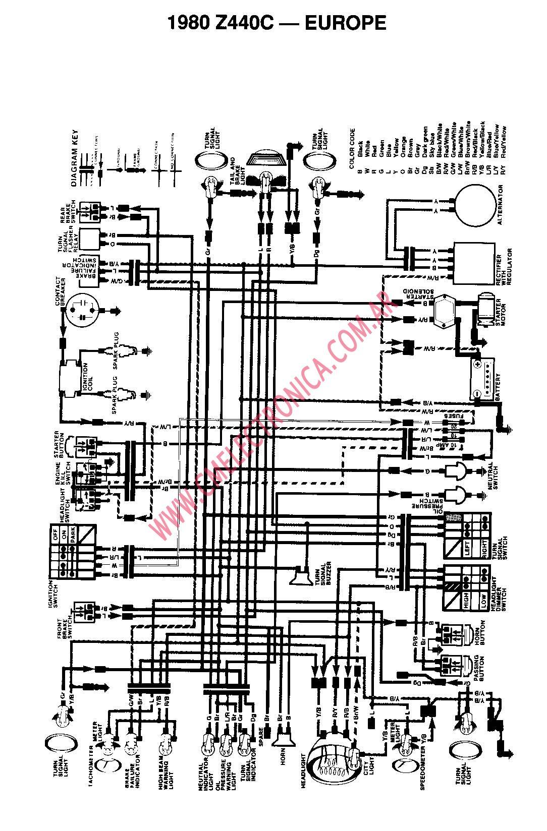 honda motocicletas auto electrical wiring diagramdiagrama kawasaki z440c