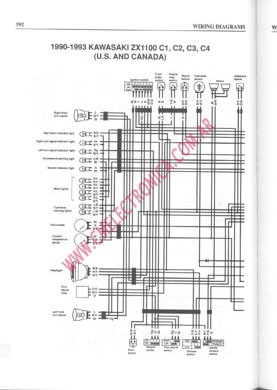 suzuki gsx 750 f diagrama de cableado