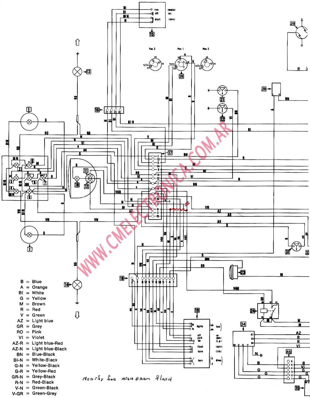 diagrama moto guzzi flasher