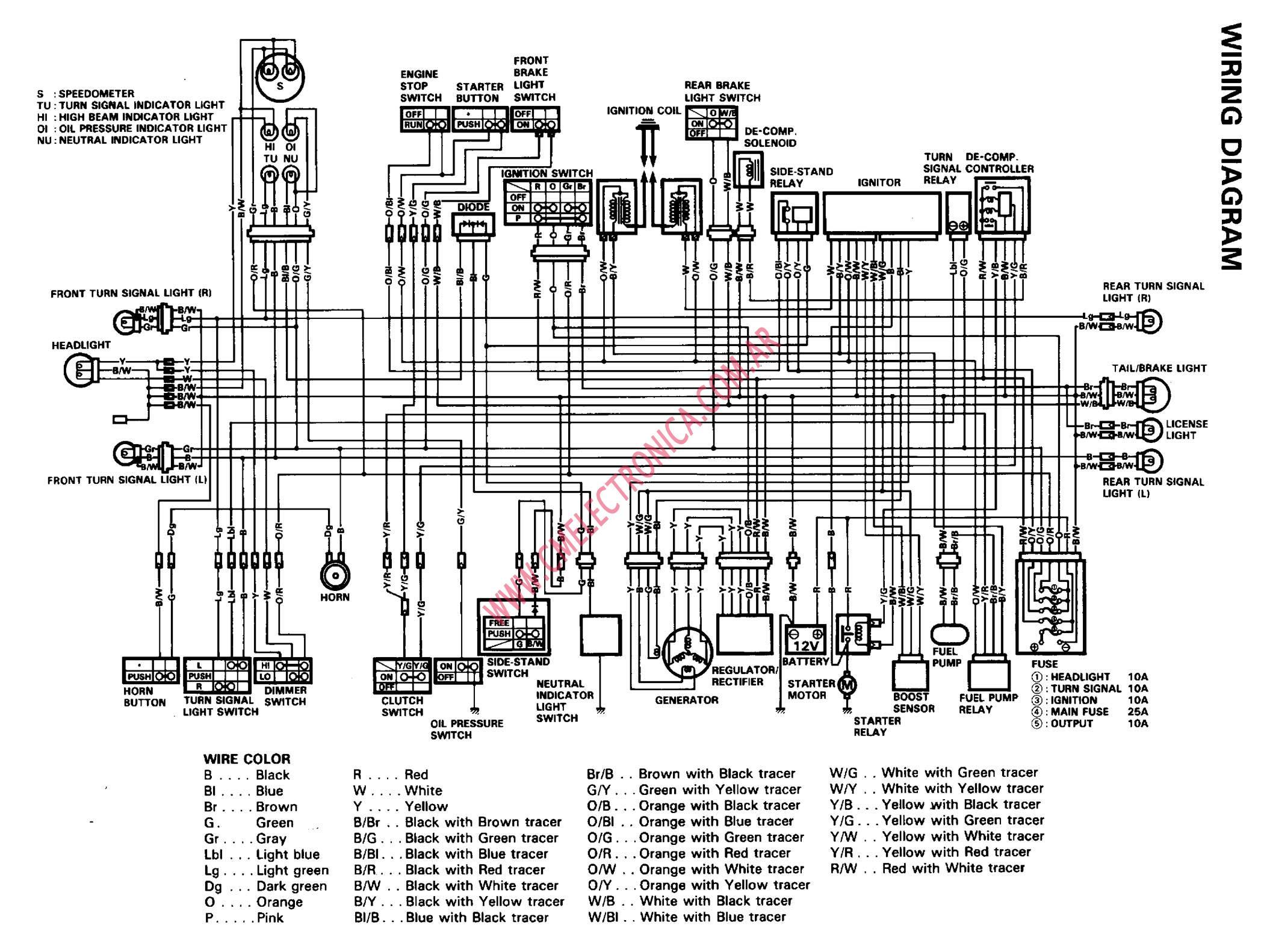 del Schaltplan for 1996 suzuki intruder 1400