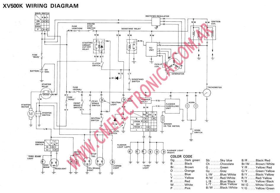 1995 Yamaha Virago 750 Wiring Diagram Electrical Schematic Diagrams