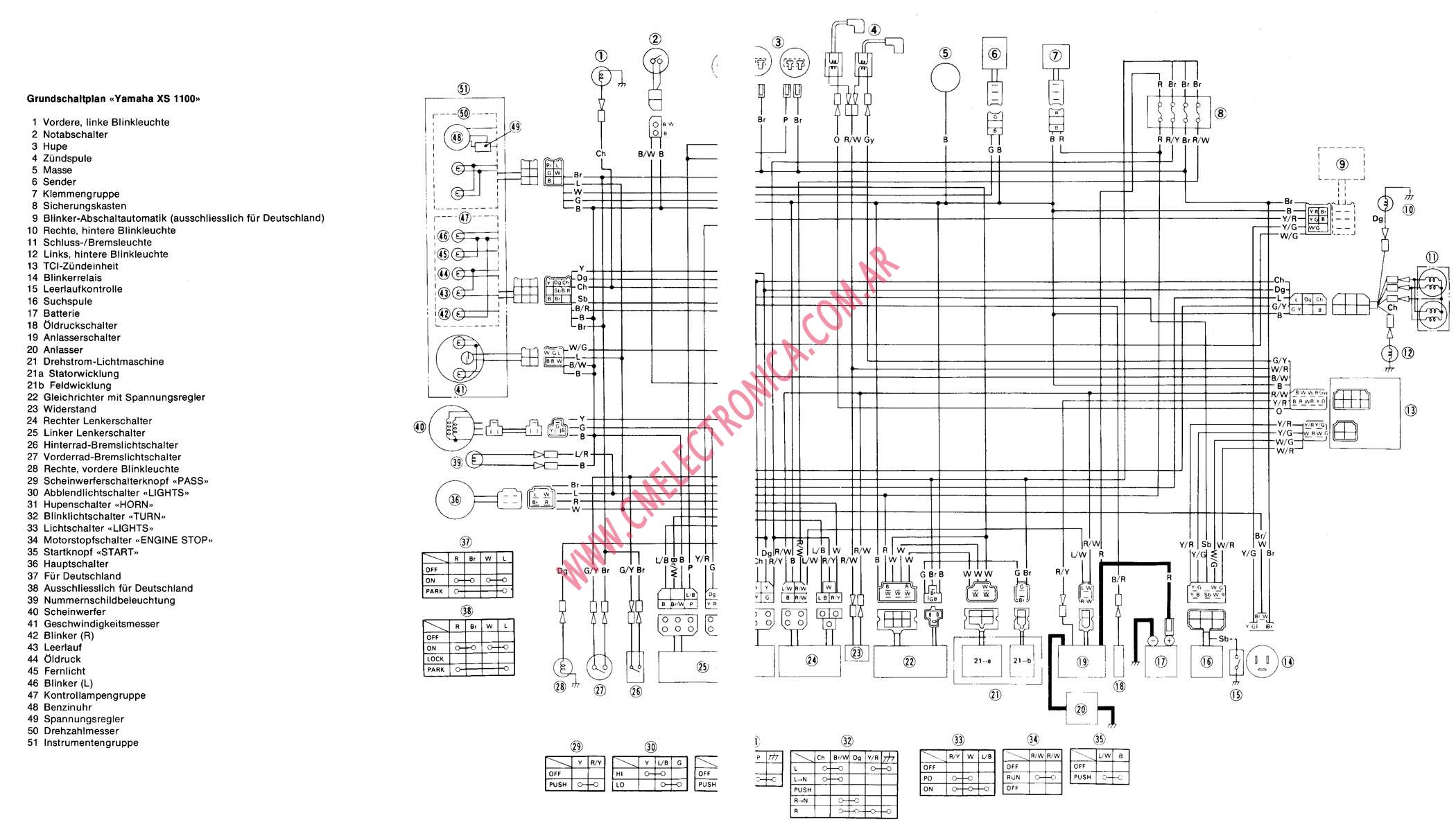 Floral Design school: 80 Yamaha Xs1100 Wiring Diagram