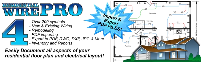 Residential Wire Pro Software - Draw Detailed Electrical Floor-Plans