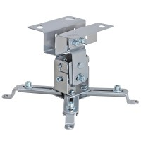 Universal Projector Ceiling Mount Max 44Lbs - Silver