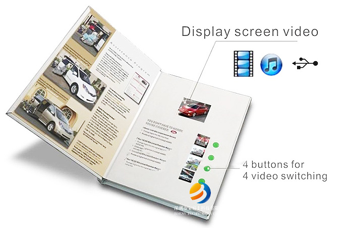 24 inch Video brochure, 24 inch LCD video card - video brochure template