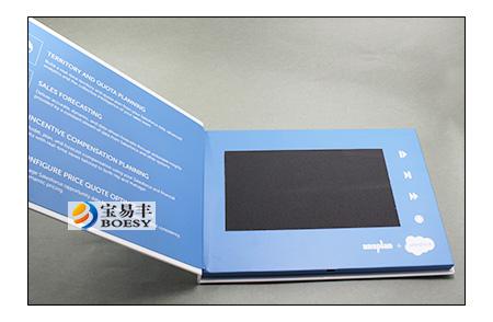 70 inch Salesforece hard cardboard Video brochure, 70 inch LCD - video brochure template