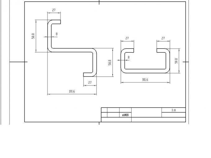 Hydraulic Press Brake Tooling die / Punching Mold 47+/-2 HRC