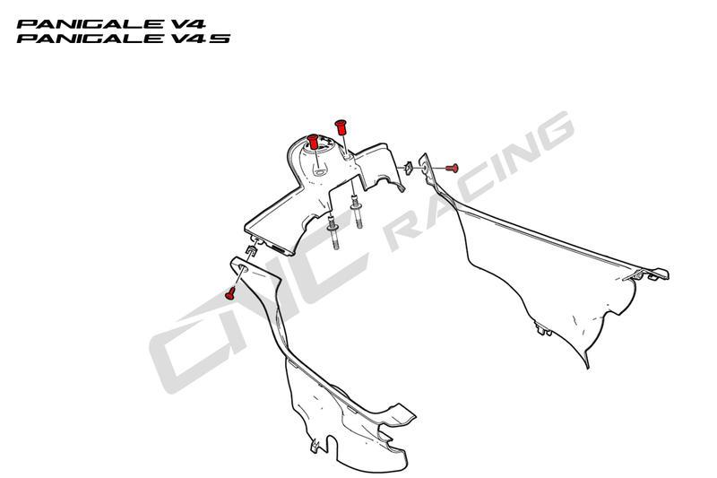 Screws key guard Ducati SBK Panigale series Cnc Racing