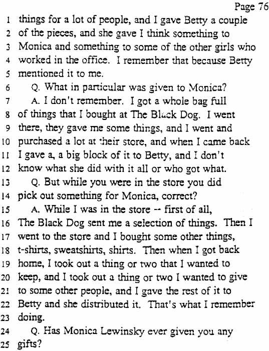 Legal Documents Released In The Jones v Clinton Case - March 13, 1998 - debt collector job description