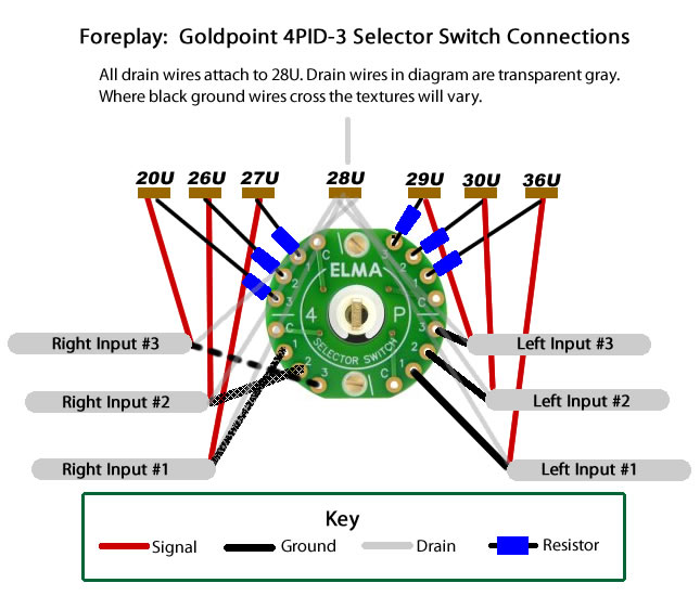 6 position rotary switch wiring diagram