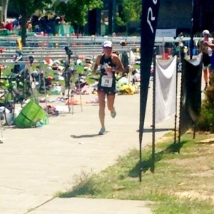 VINEMAN triathlete Laura Butler on the run