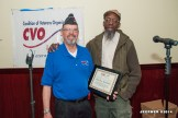 Bruce Parry (CVO Chair) presenting award to David Rogers