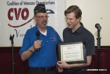 Bruce Parry (CVO Chair) presents award to Joe Kerwer (CVO Webmaster)